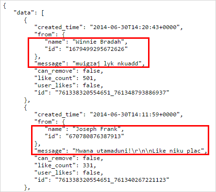 extract facebook user IDs graph api