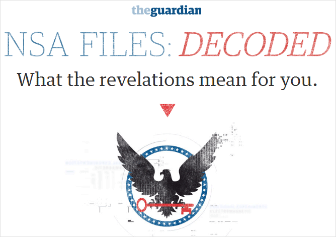 data journalism example:snowden nsa files decoded