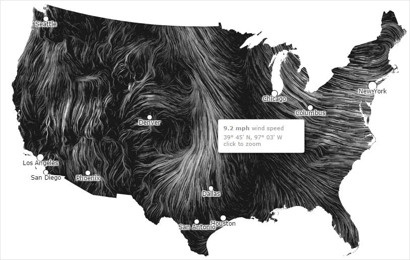 data journalism example:wind map