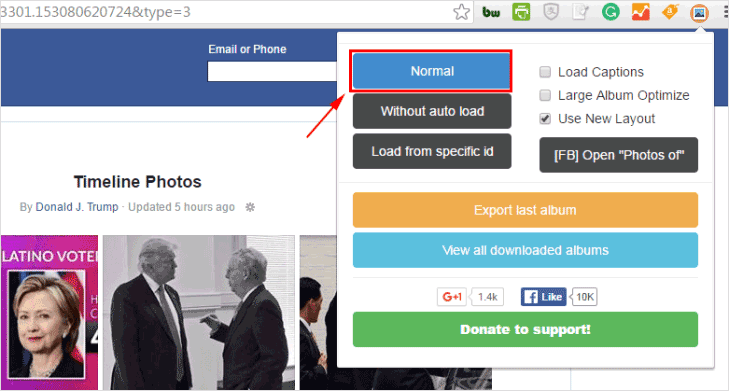 How to Download Entire Facebook Photo Albums of Friends or Pages