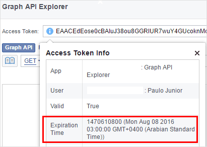 Access token expiration time